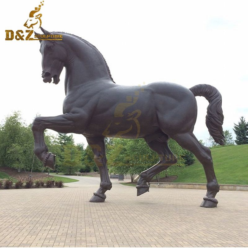 Large metal casting artwork bronze horse statue for garden