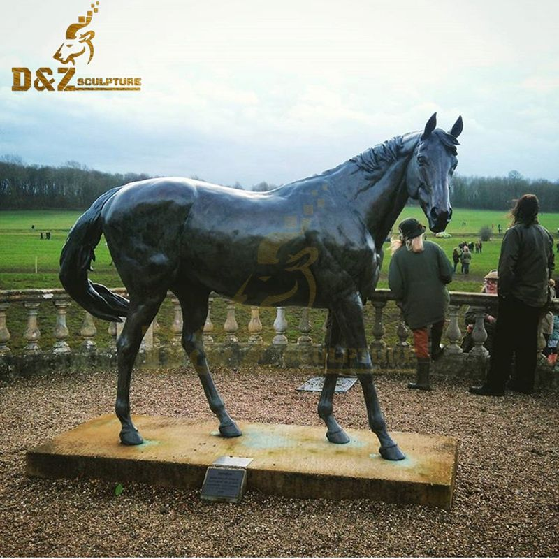 Garden decoration metal casting life size horse statue for sale