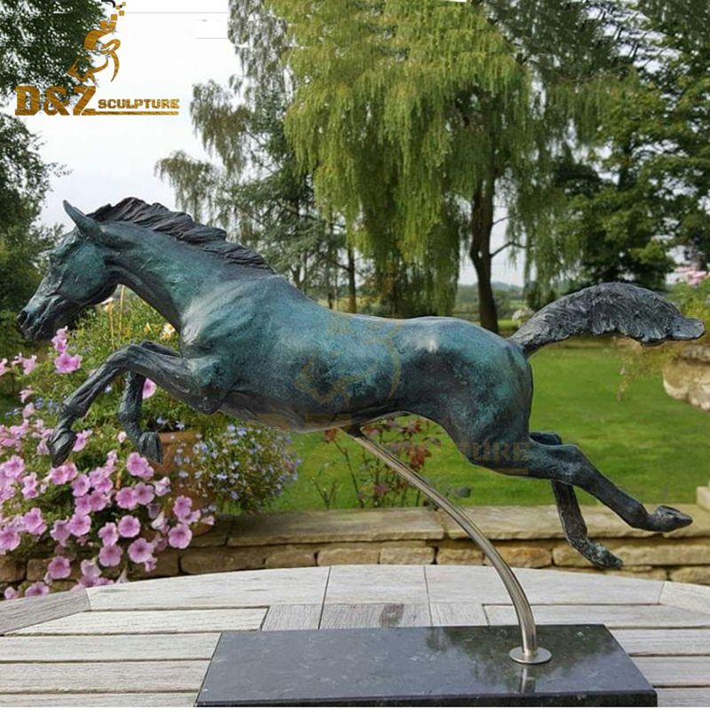 New product bronze garden sculpture jumping horse statue for sale