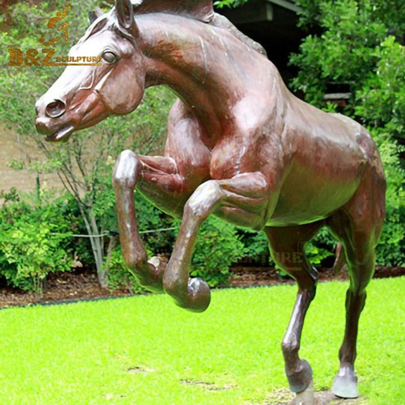 Factory wholesale outdoor metal animal bronze running horse statue for sale