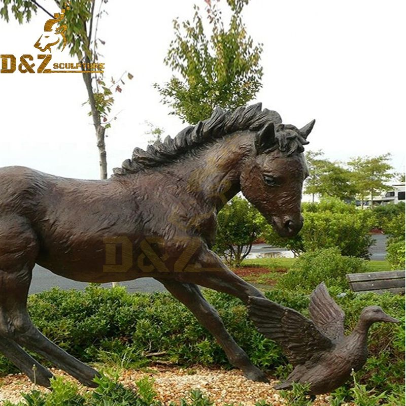 life size horse statues bronze