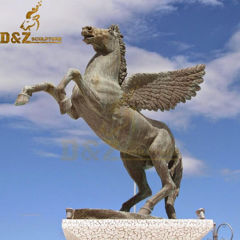 Large size outdoor bronze Pegasus statue with wings for sale