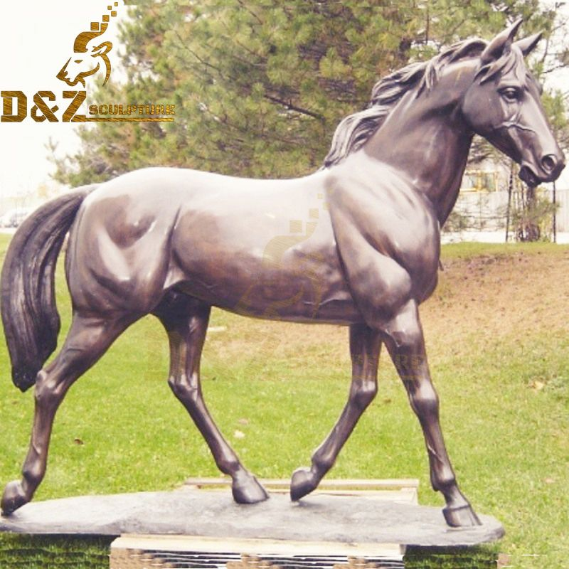 Metal casting high quality bronze standing horse sculpture for sale