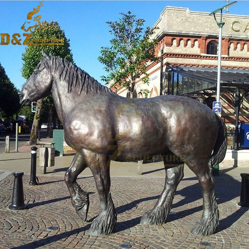Life-size metal bronze horse statue decoration artwork for sale