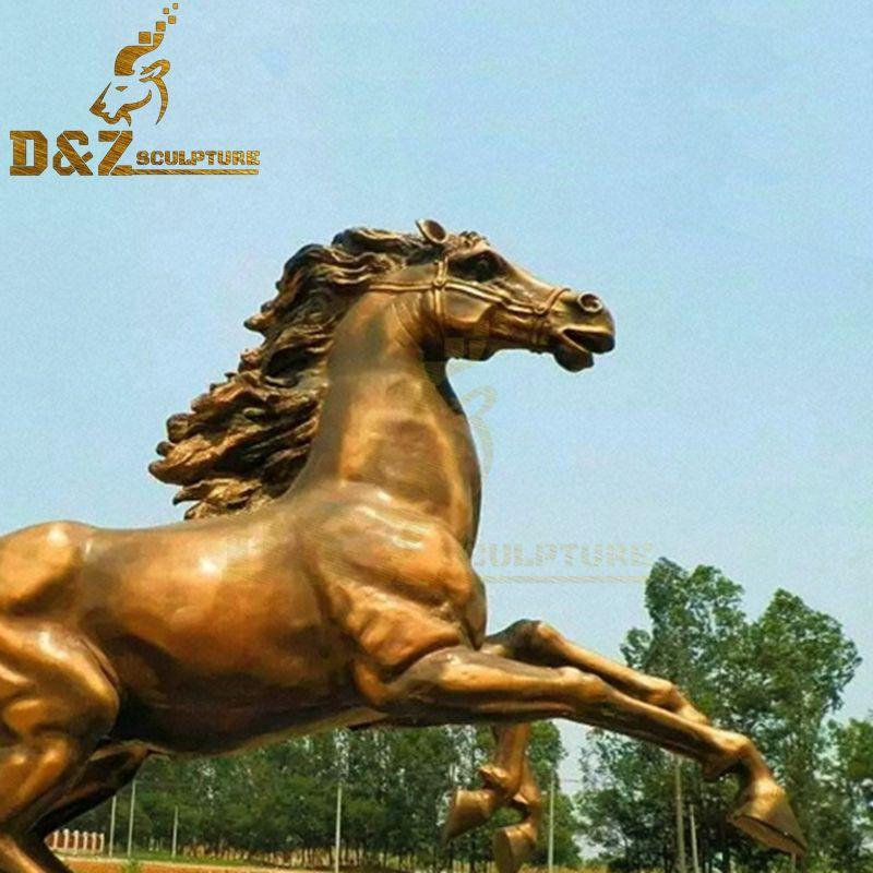 indoor bronze horse statue
