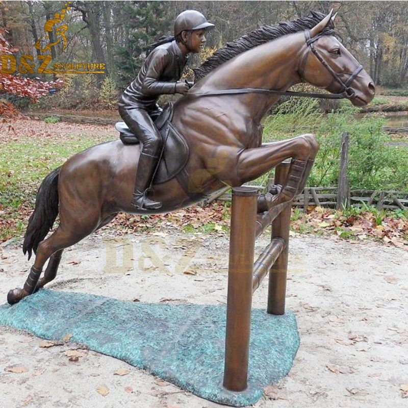 High quality modern design bronze horse racing statue for sale