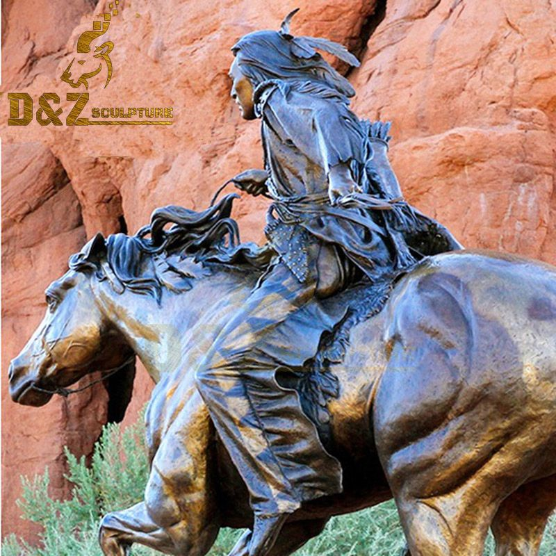 equestrian statuette