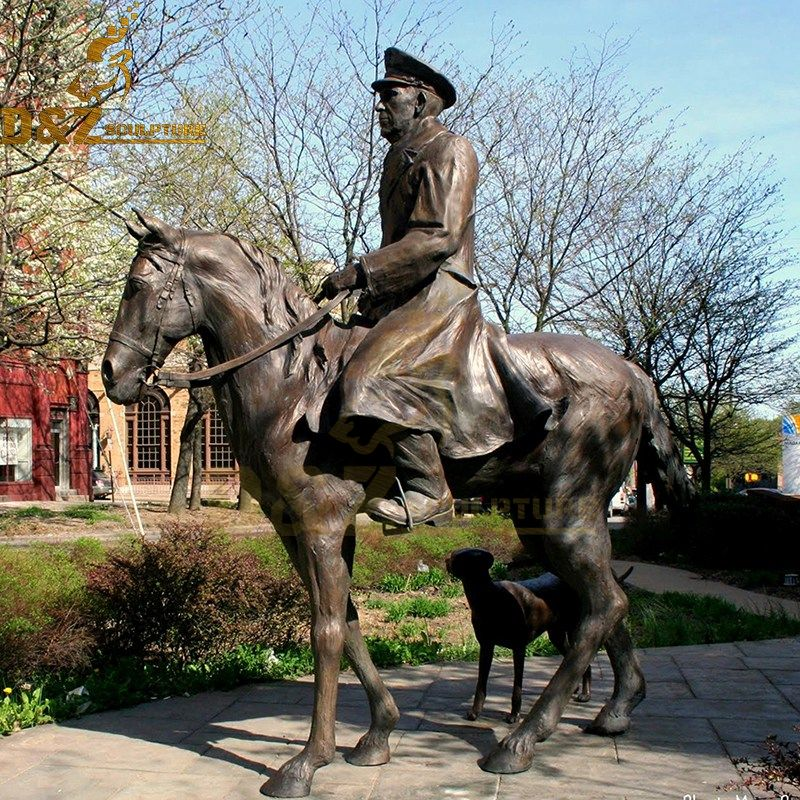 man on horse statue