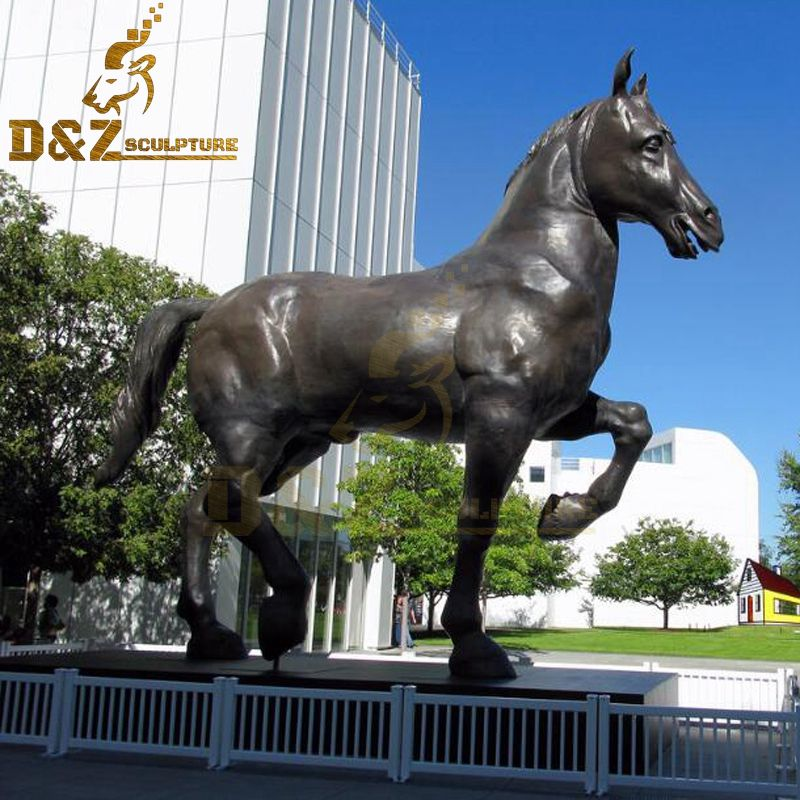 Customized life Size Bronze Garden Standing Horse Statue for sale