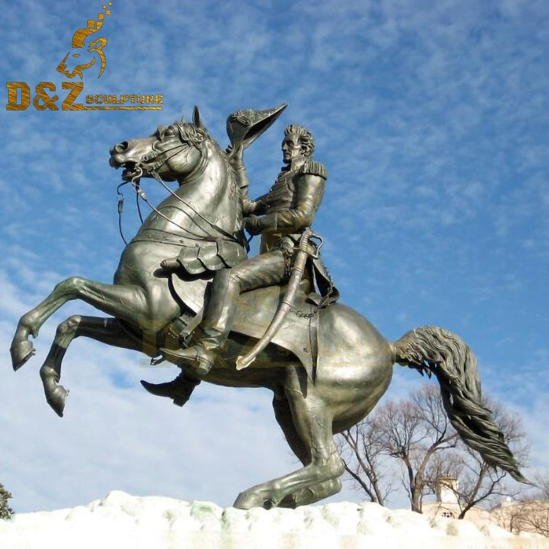 Famous high quality metal bronze Andrew jackson riding horse statue for sale