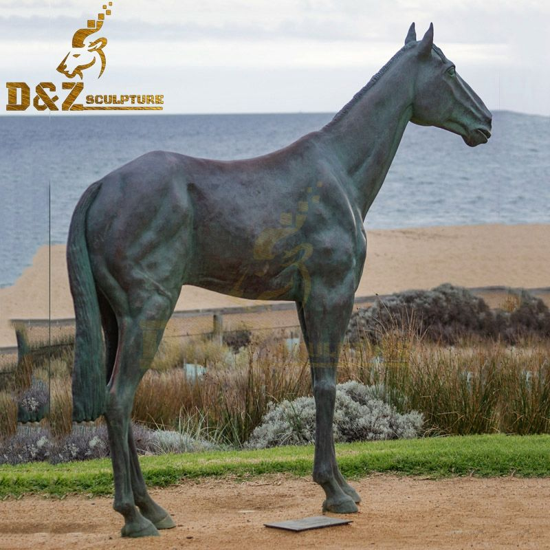 Antique Garden Bronze Standing Horse Sculpture from Factory Supply