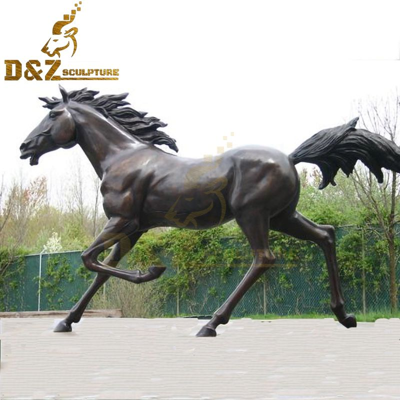 Custom large garden statue bronze Arabian horse statue for sale