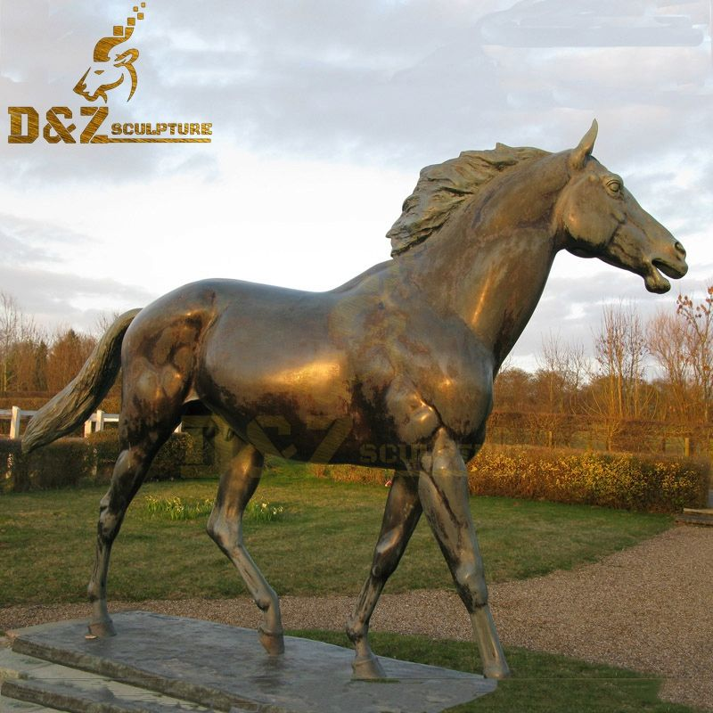 Life Size Arabian Horse Bronze Standing Horse Art Sculpture Design for Sale