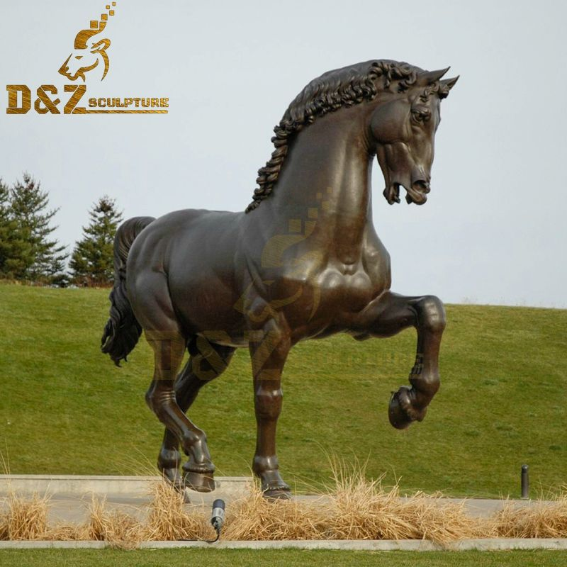 Outdoor American Horse Bronze Leonardo's Horse Sculpture for Sale