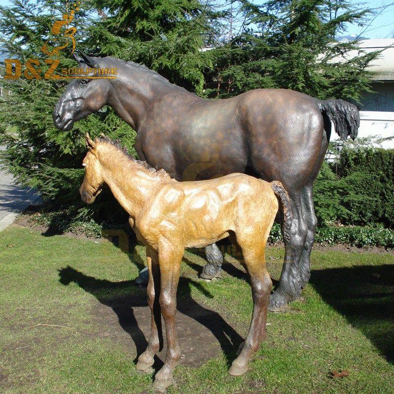 horse metal sculptures