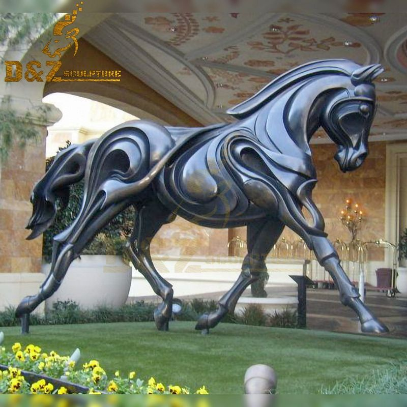 Western design hot sale abstract metal horse garden sculpture for sale