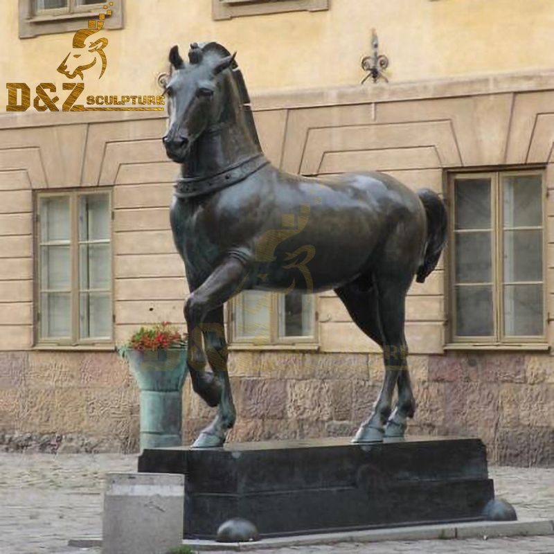 Western design street decoration life-size bronze horse art sculpture