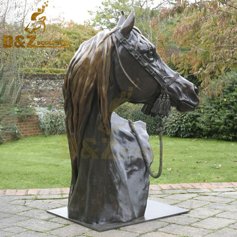 Hot sale life size bronze horse head sculpture for garden decor