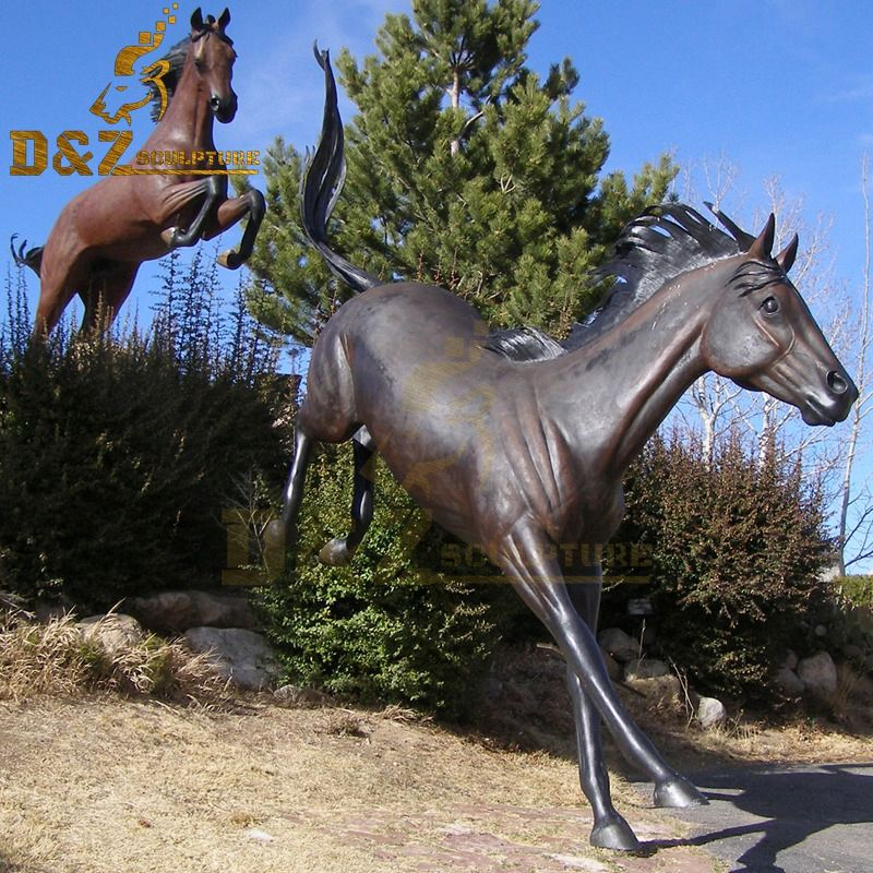 New design bronze running horse sculpture garden decoration for sale