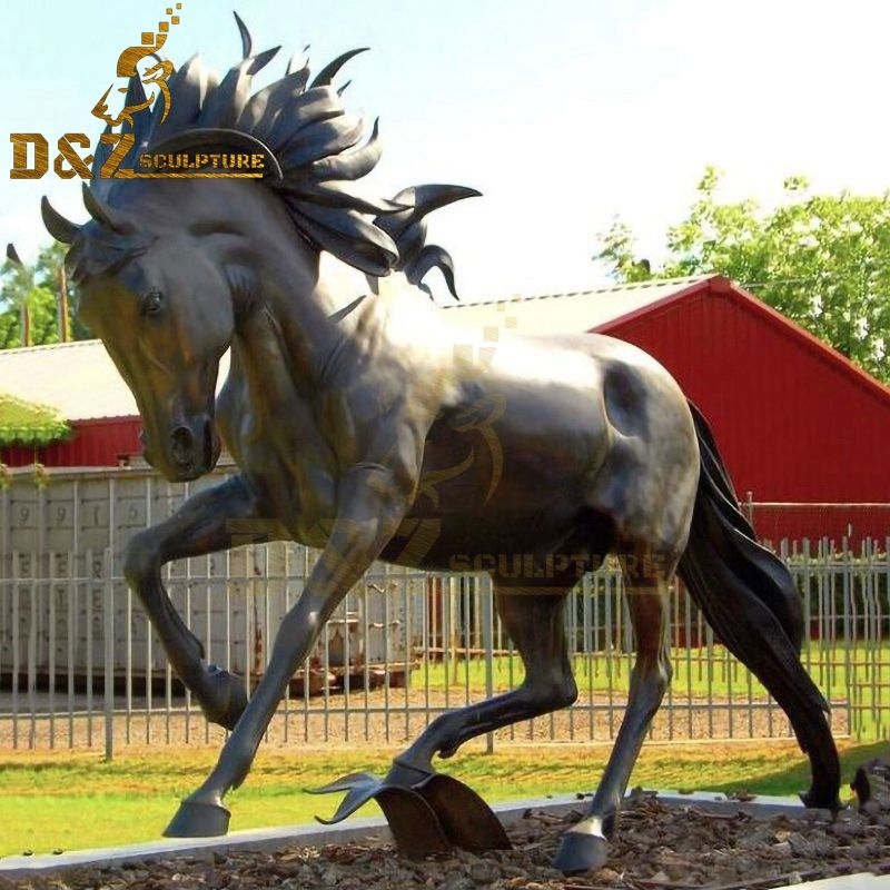 New design metal casting bronze running Arabian horse sculpture for sale