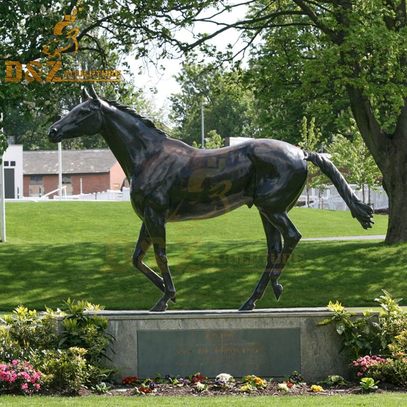High quality garden decoration standing bronze horse metal sculpture