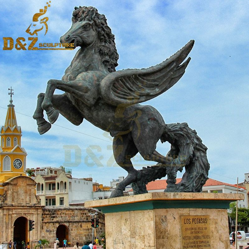 Large metal animal sculpture bronze pegasus statue decoration for sale