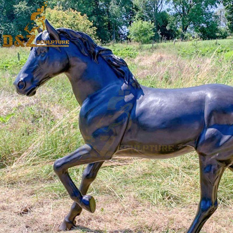 running horse statues