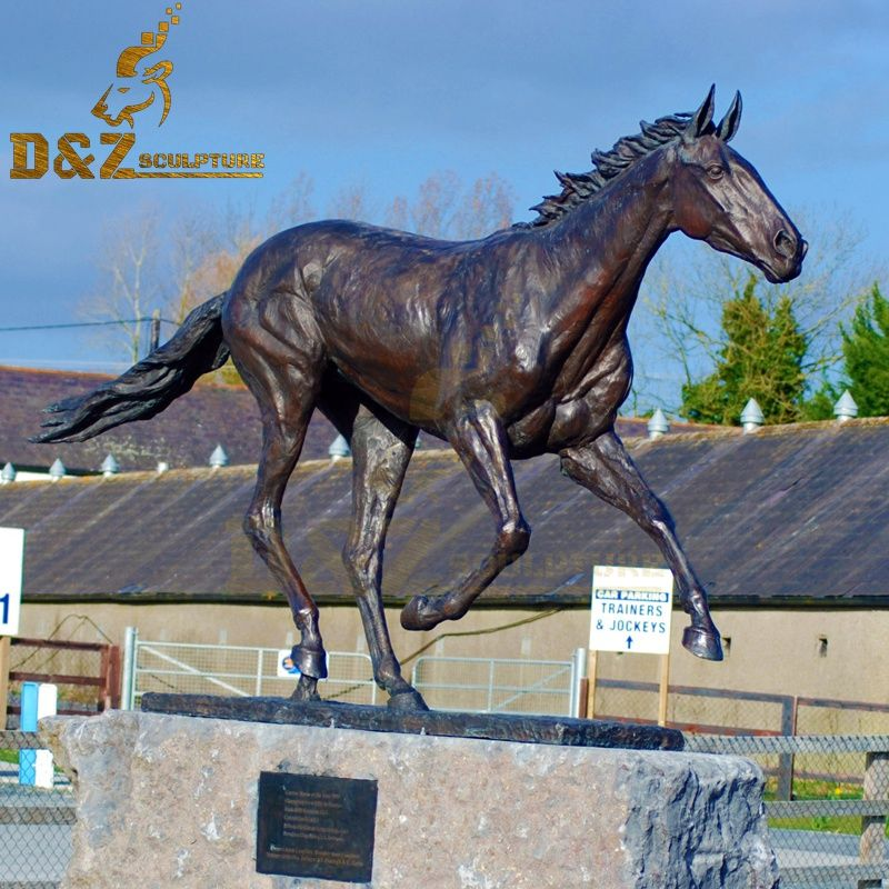 New design bronze standing horse sculpture garden decoration for sale