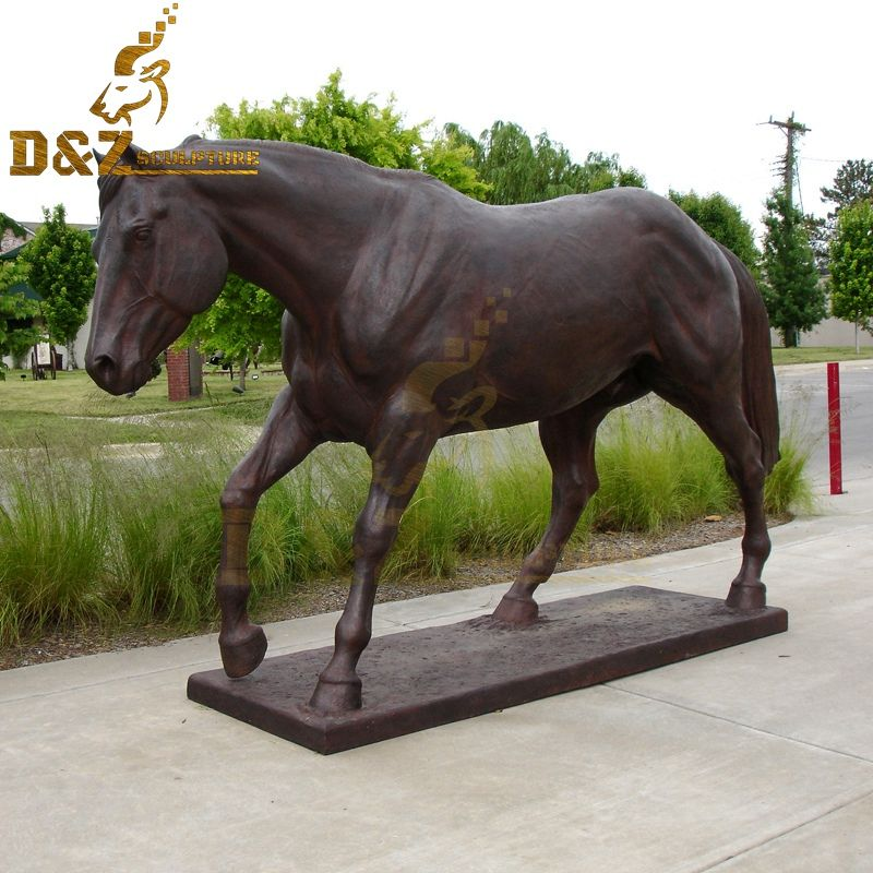Garden animal sculpture bronze casting large bronze horse sculpture