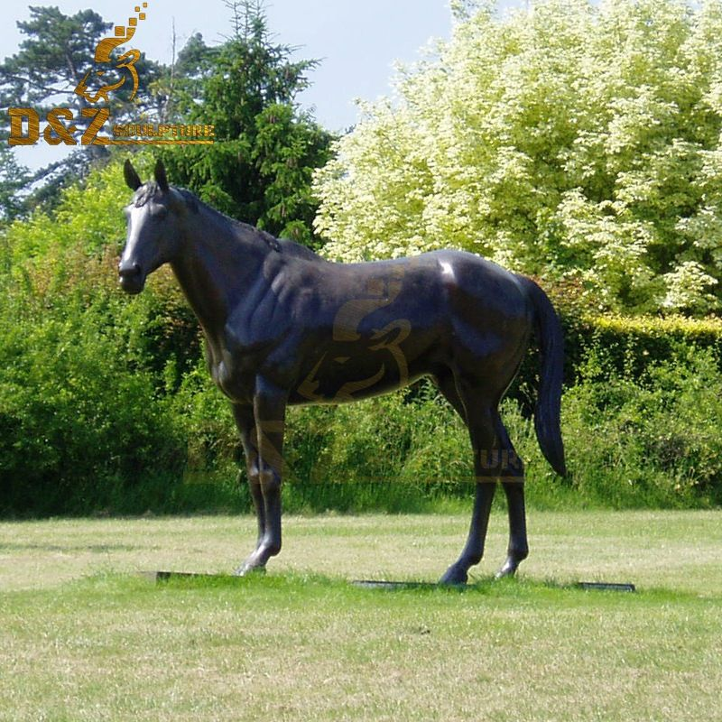 Customized high quality bronze standing horse garden statue for sale