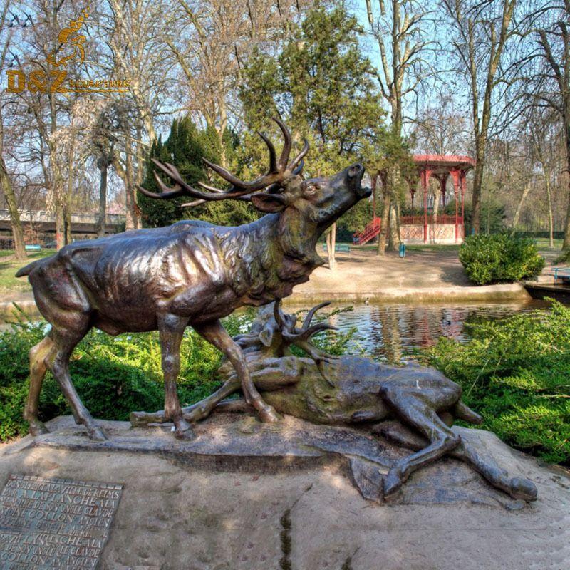 lawn deer statues