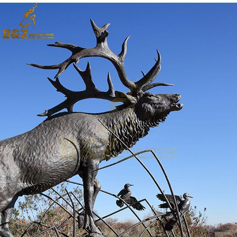 outdoor elk sculpture