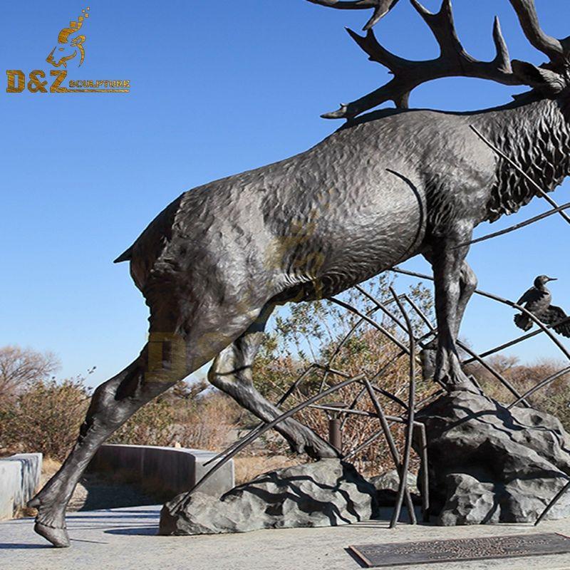 elk yard statue