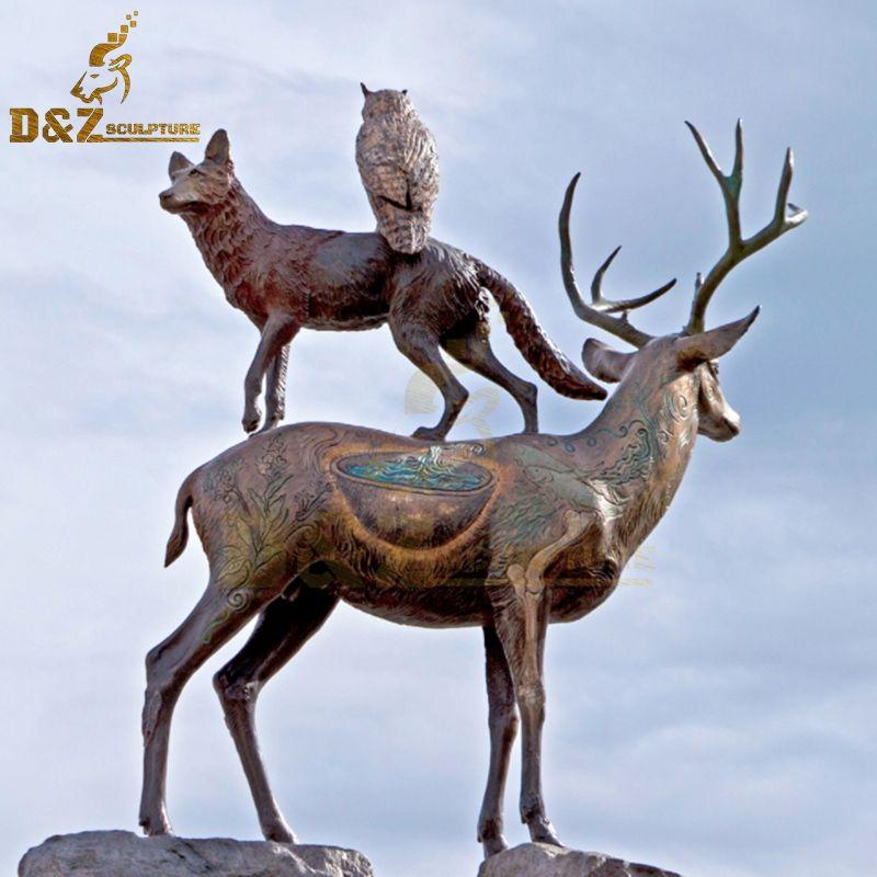 deer and statue