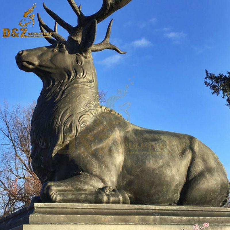 bronze stag statue garden