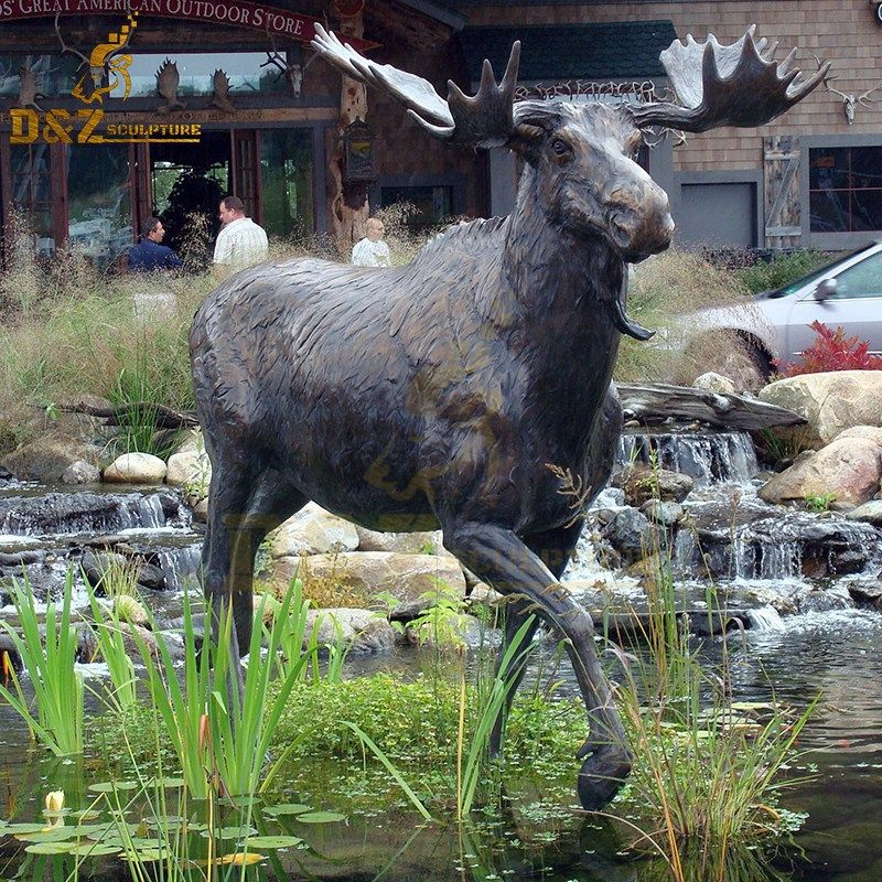 Garden animal sculptures decorate life size moose statues for sale