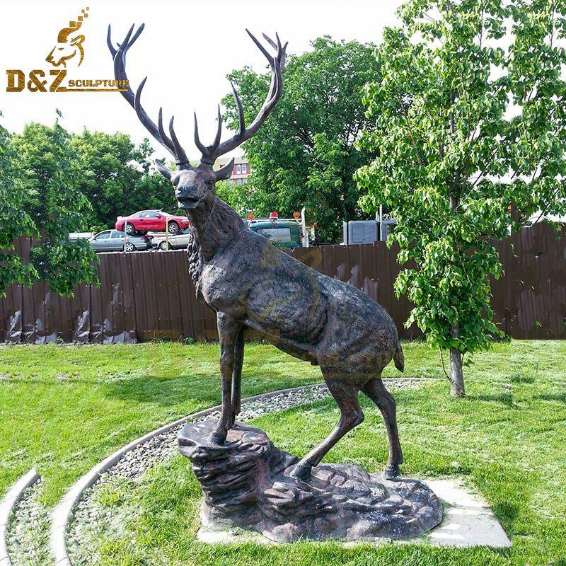 bronze stag statue