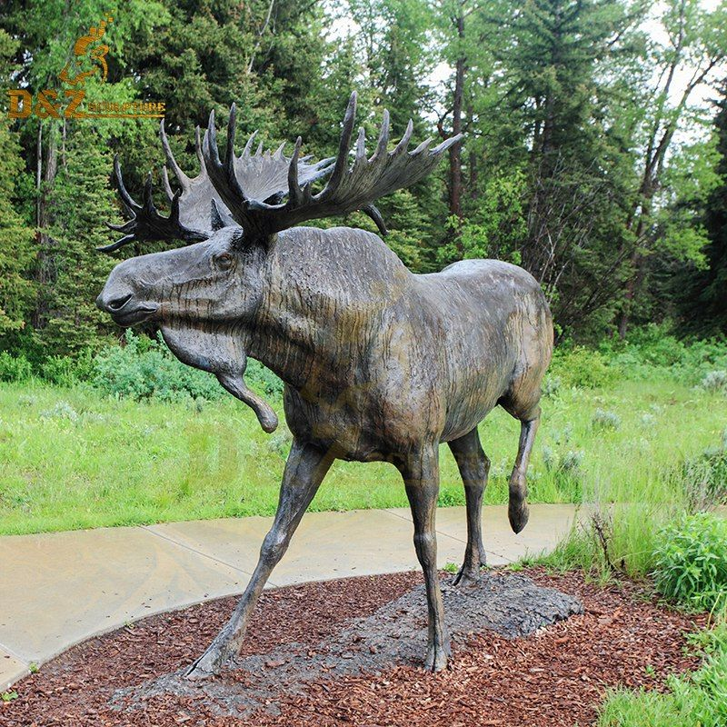 bronze moose sculpture