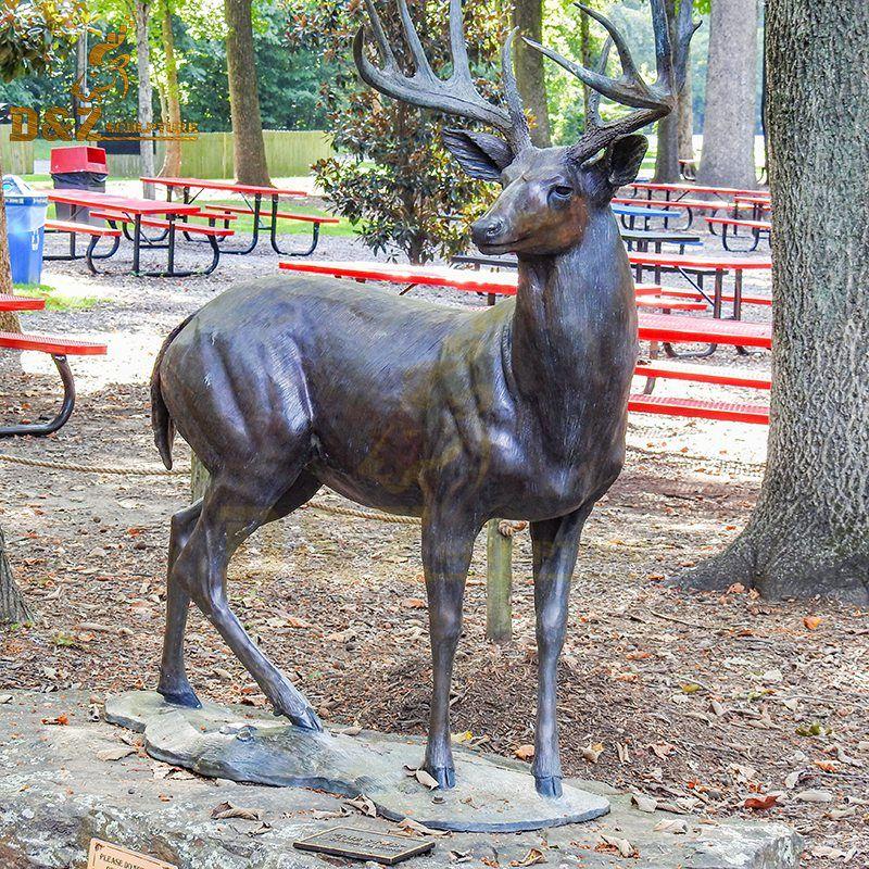 New design life-size bronze garden stag sculpture for sale