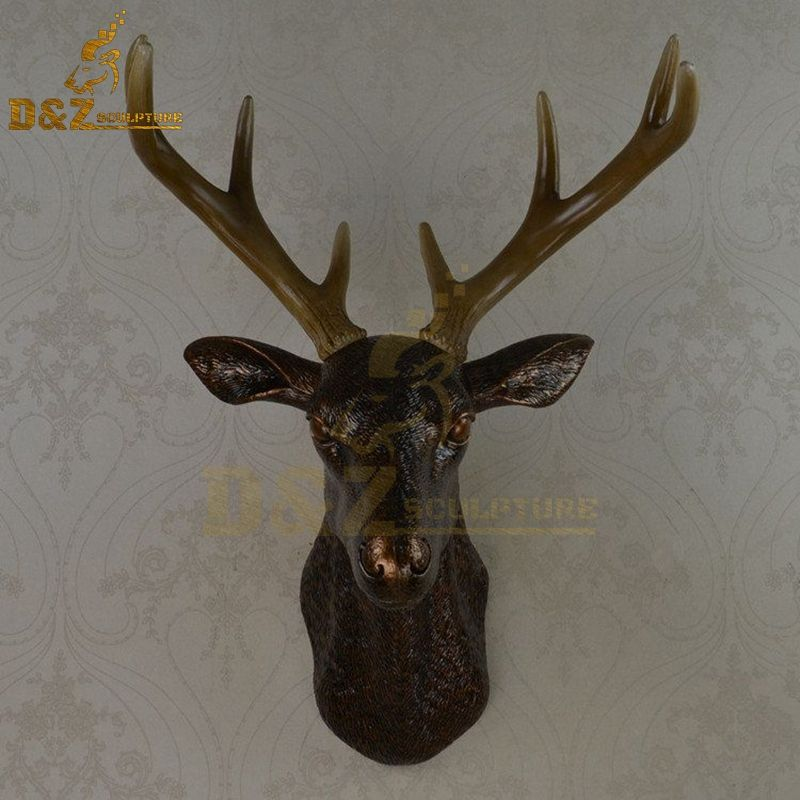 Antique deer head statue interior wall decoration artwork for sale