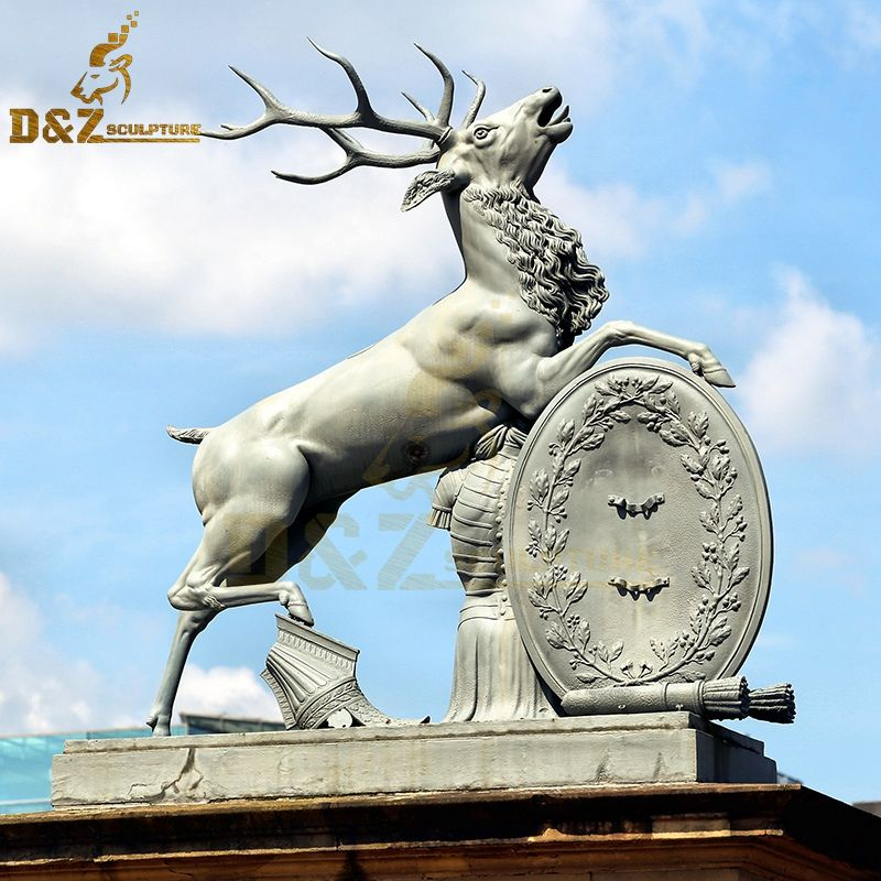 Modern design bronze deer sculpture outdoor decoration for sale