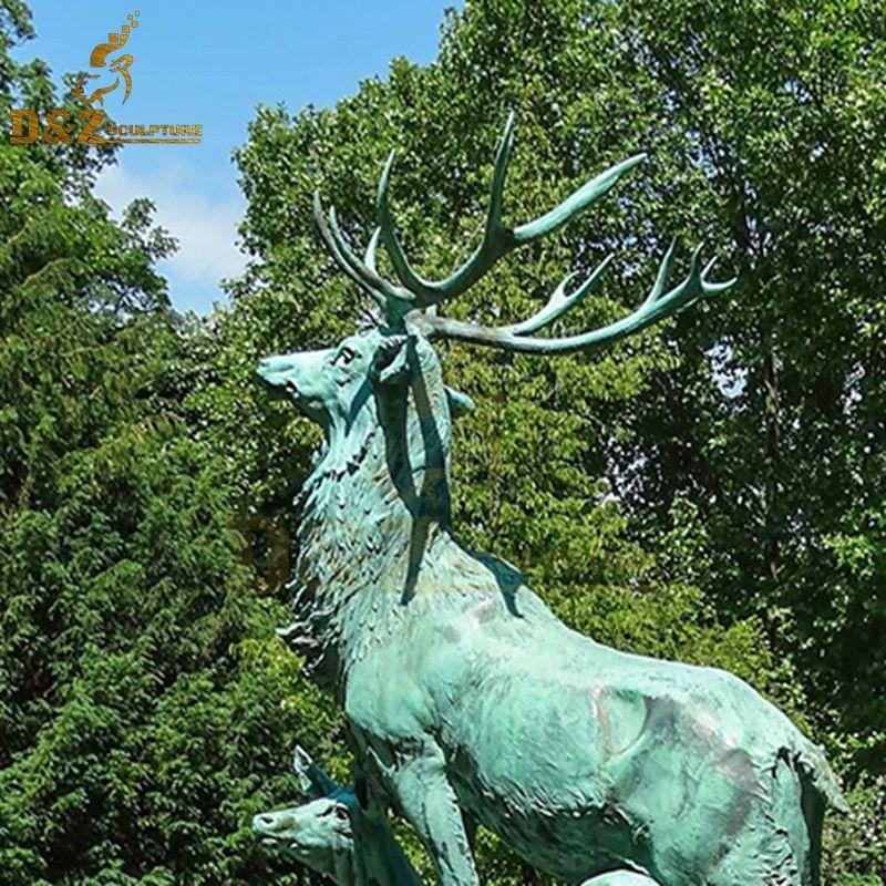 deer welcome statue