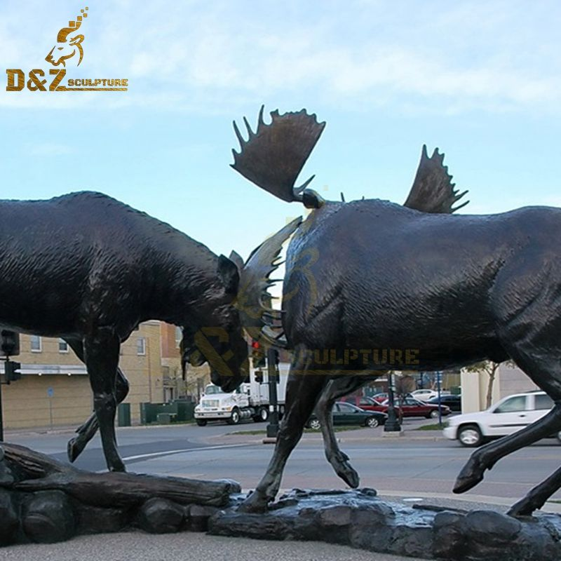 metal moose for garden