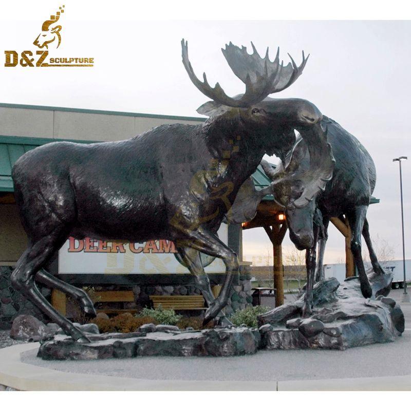 metal garden moose