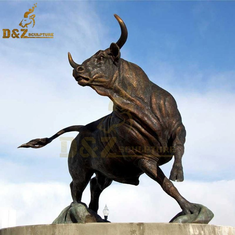 Large Outdoor Bronze Bull Statue Animal Sculpture Decoration for Sale