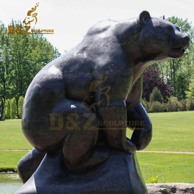 Metal animal decoration high quality bear garden statue for sale