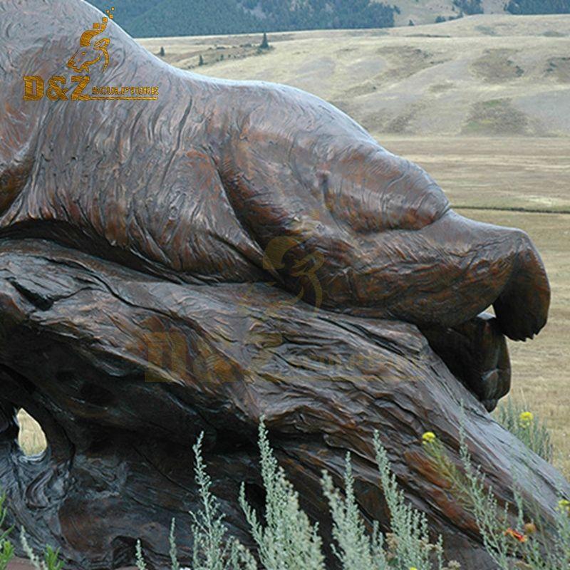 bear yard statue