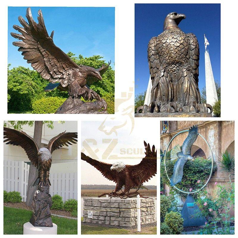 outdoor metal eagle sculpture