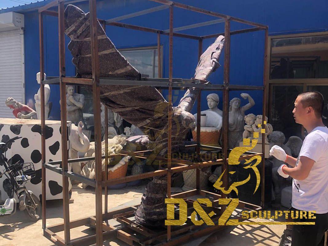 Large size metal casting hot sale garden decoration eagle sculpture