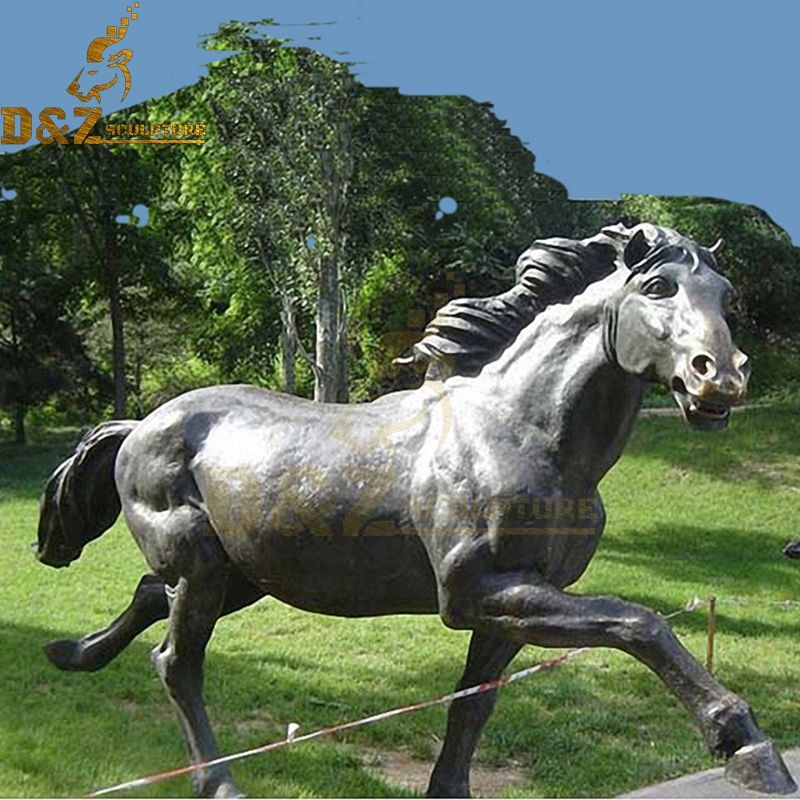 bronze walking horse sculpture